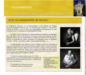 Titre de Portraitiste de France Gazette Saint-Siffret